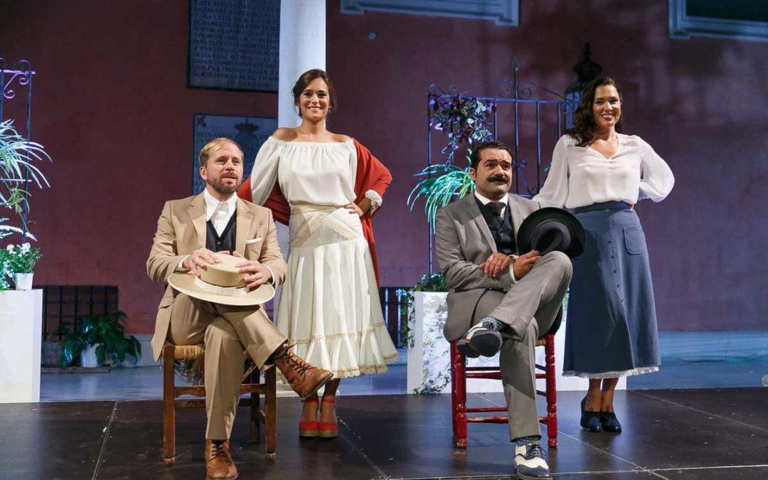 Alberto López, Carmen Canivell, Alfonso Sánchez y Eva Marciel en Letras en Sevilla IV.